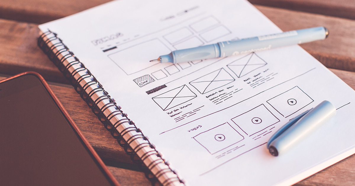 Mobile UI/UX design Notebook